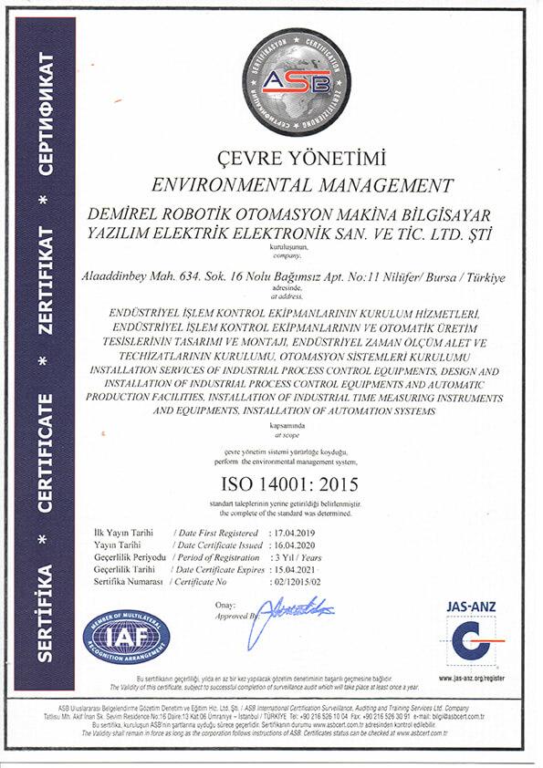Demirel-Robotik-ISO-14001-2015